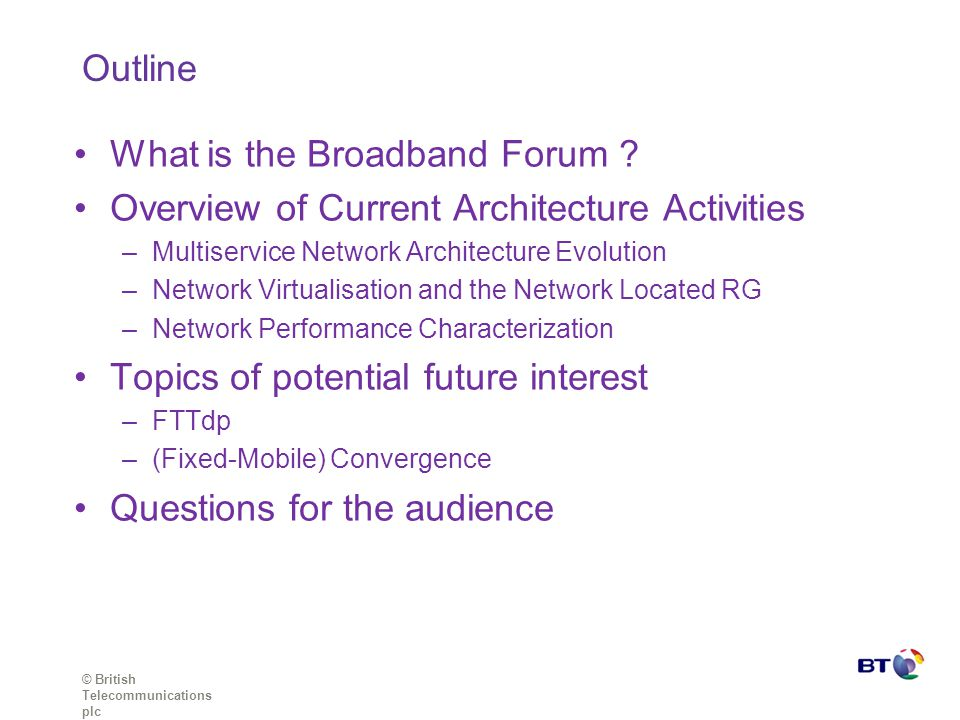 What is the Broadband Forum