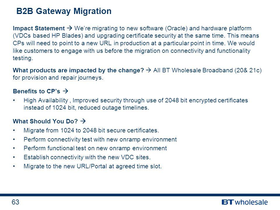 B2B Gateway Migration