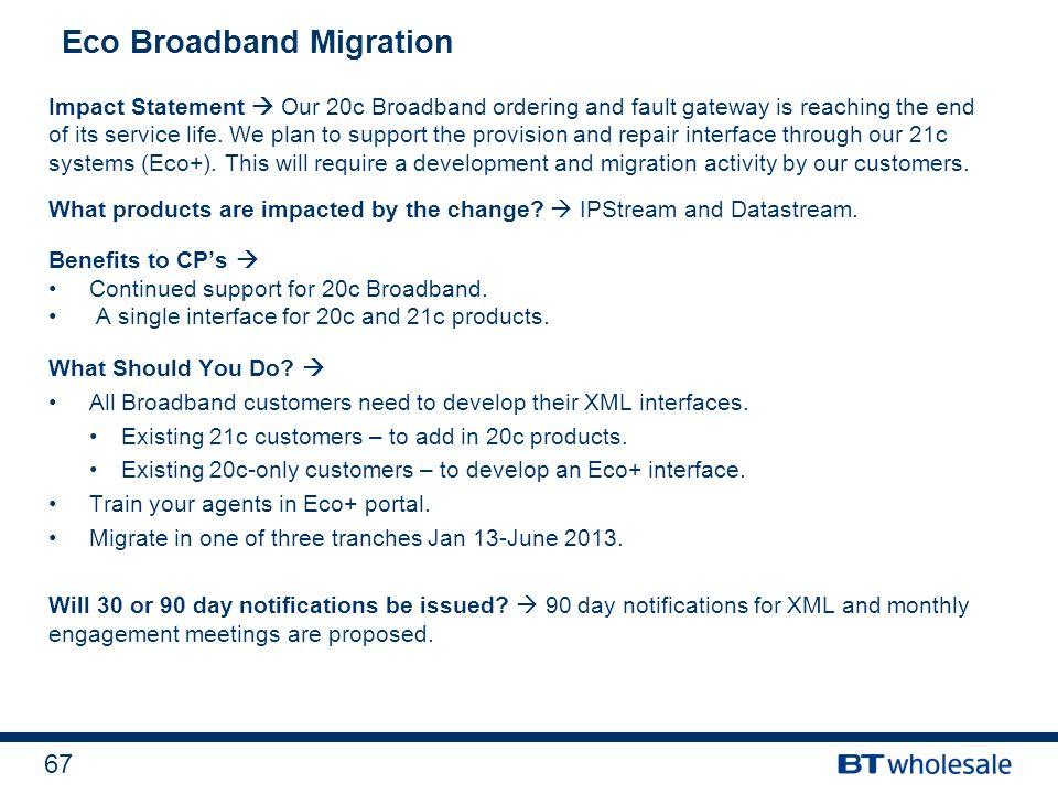 Eco Broadband Migration