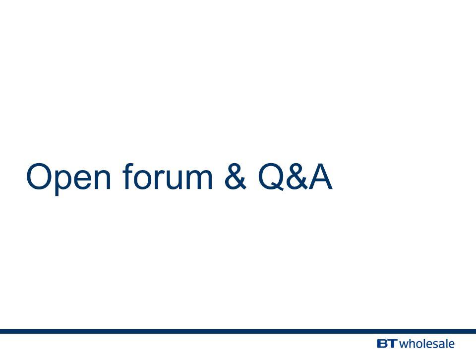 Open forum & Q&A