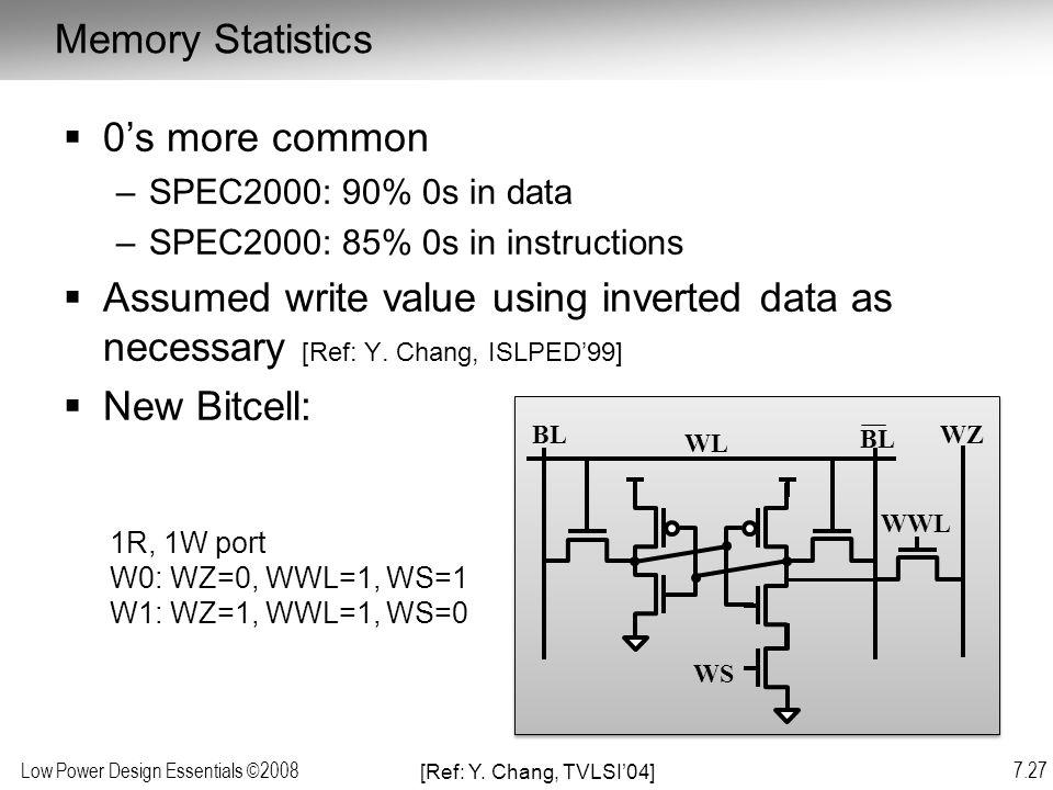 Memory Statistics 0's more common