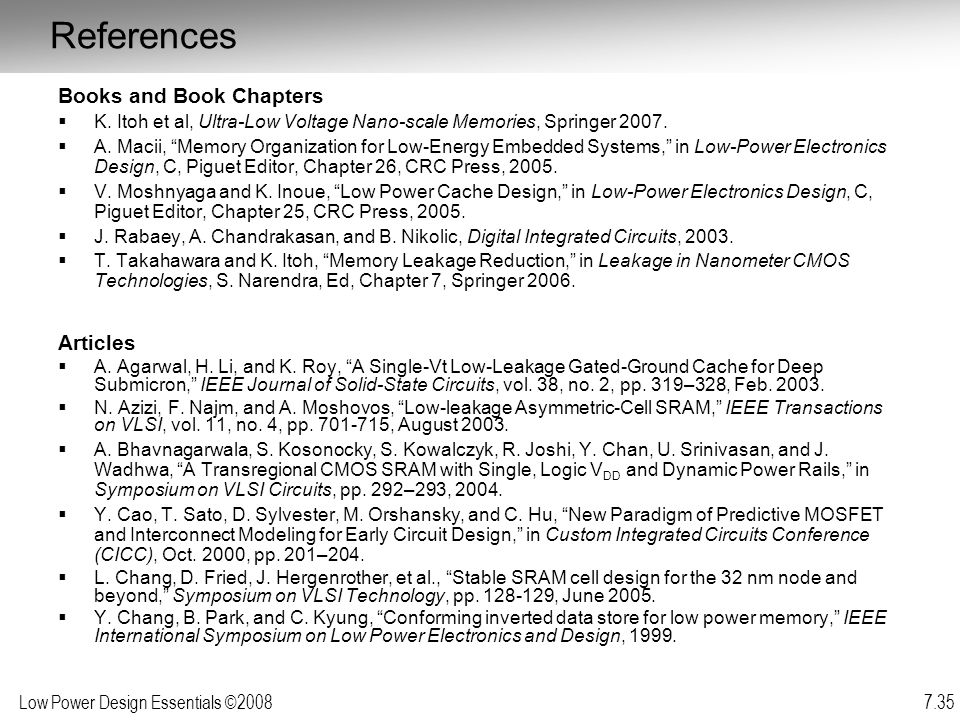 References Books and Book Chapters Articles