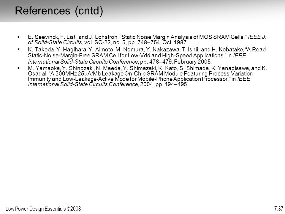 References (cntd)