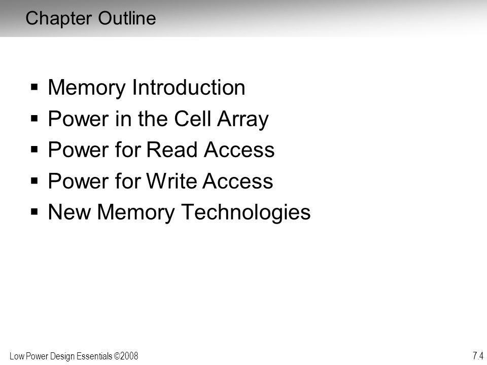 New Memory Technologies