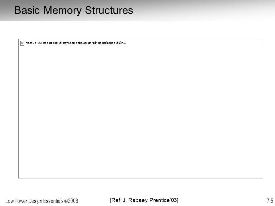 Basic Memory Structures