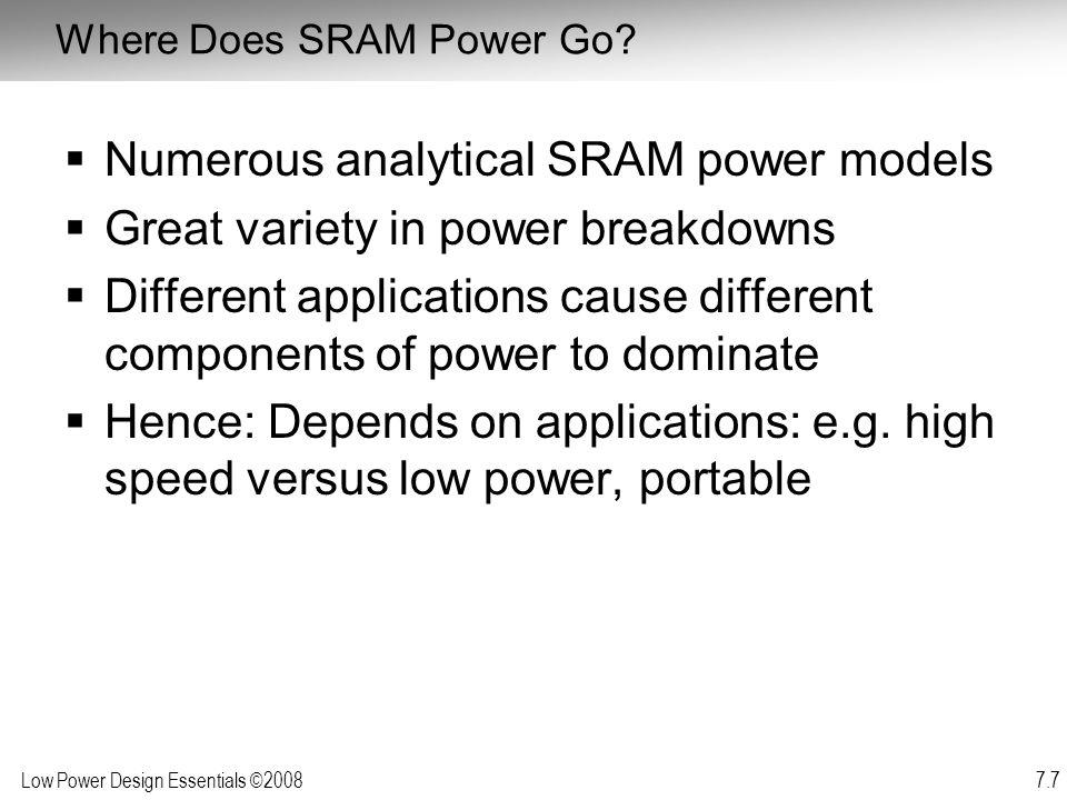 Where Does SRAM Power Go