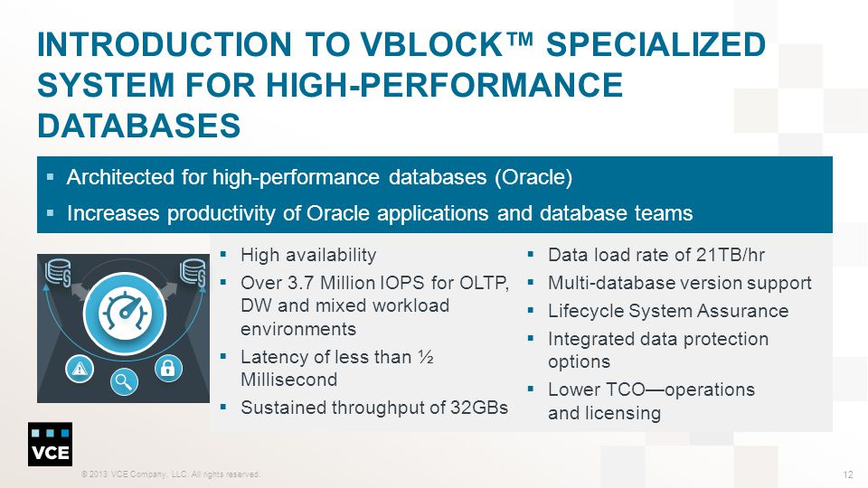 Introduction to Vblock™ Specialized System for High-Performance Databases