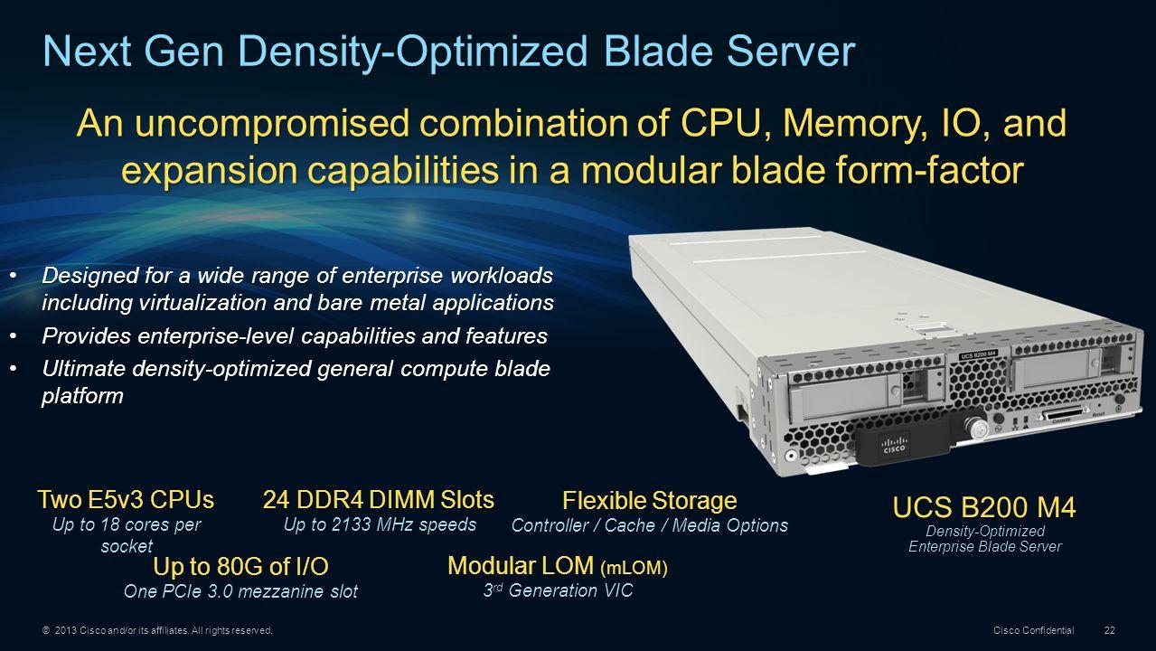 Next Gen Density-Optimized Blade Server