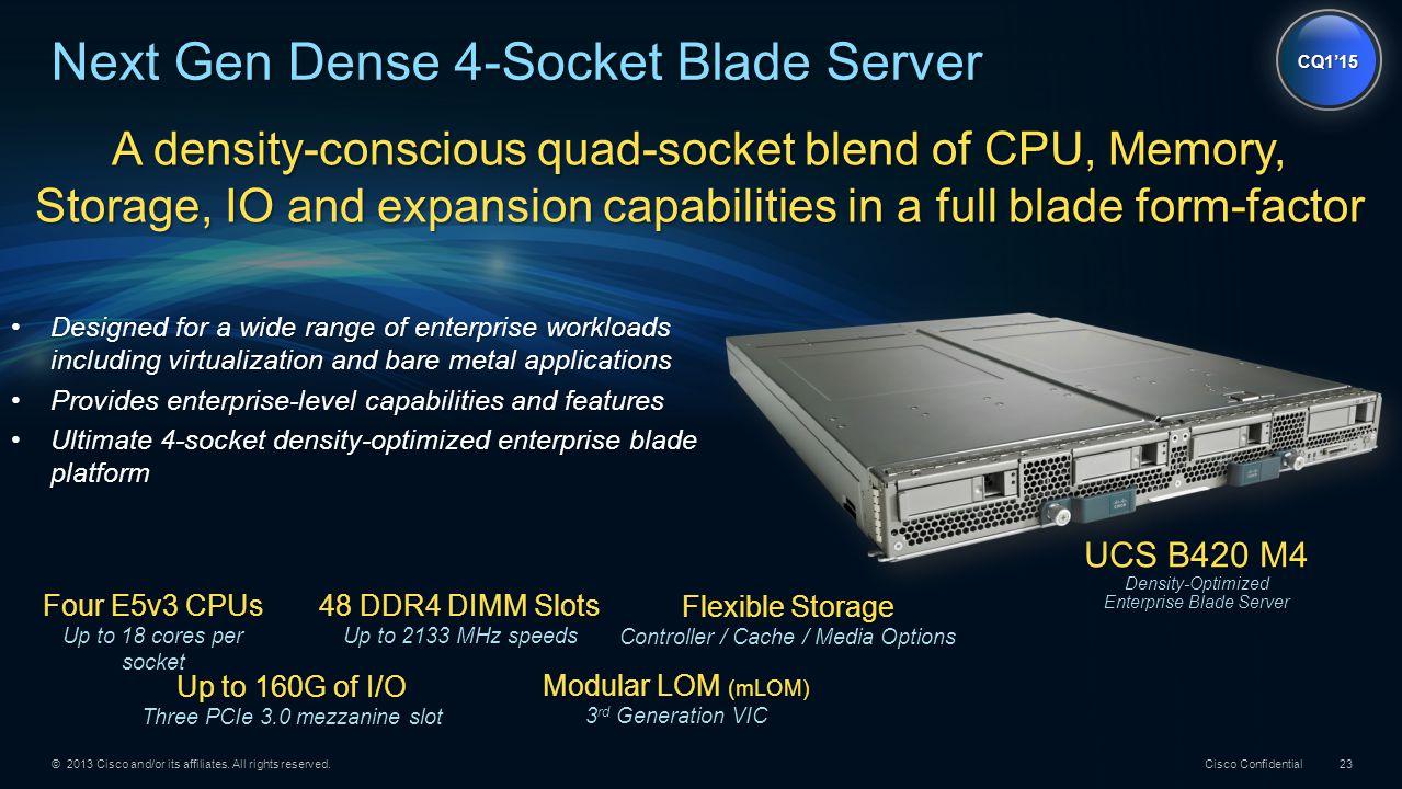 Next Gen Dense 4-Socket Blade Server