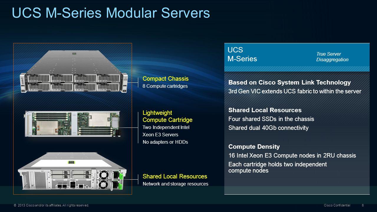 UCS M-Series Modular Servers