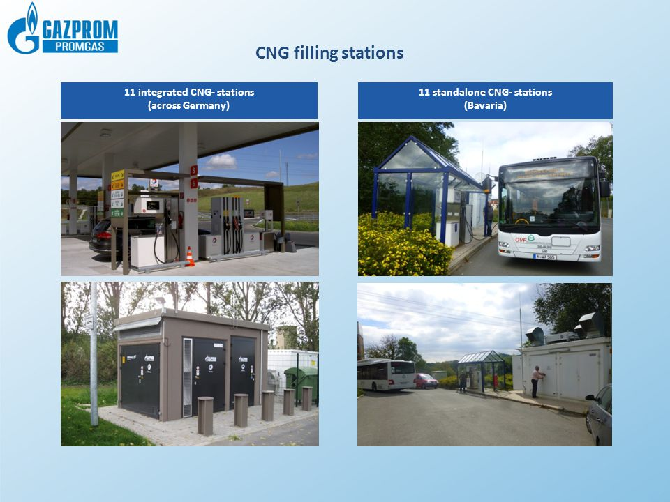 CNG filling stations 11 integrated CNG- stations (across Germany)