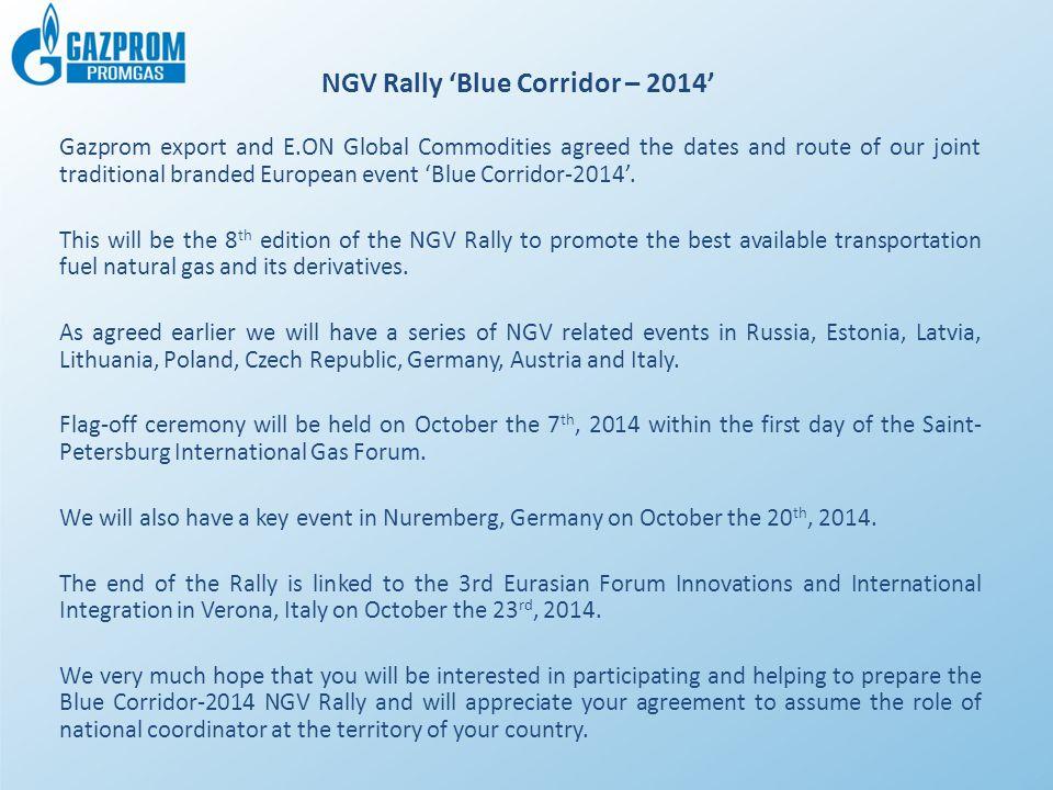 NGV Rally 'Blue Corridor – 2014'