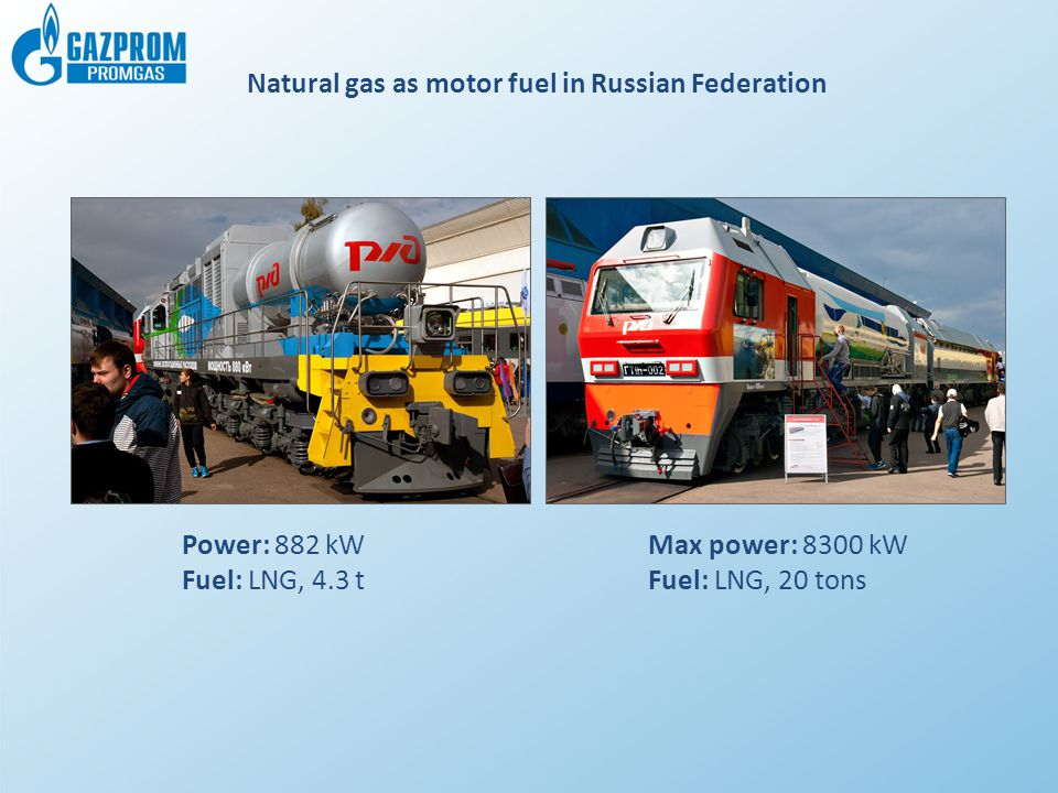Natural gas as motor fuel in Russian Federation