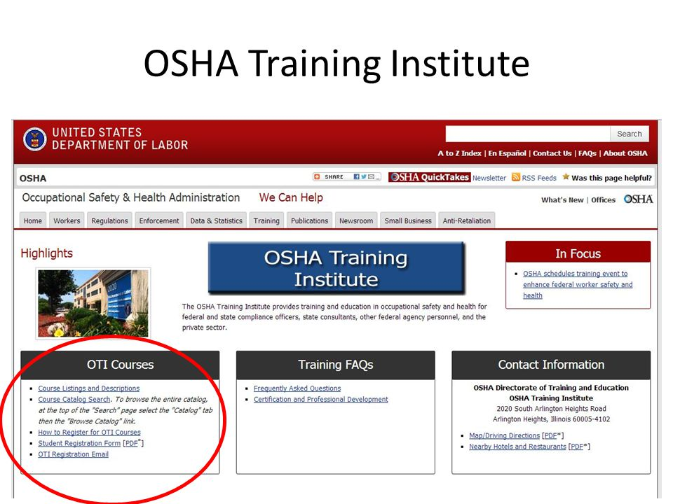 OSHA Training Institute