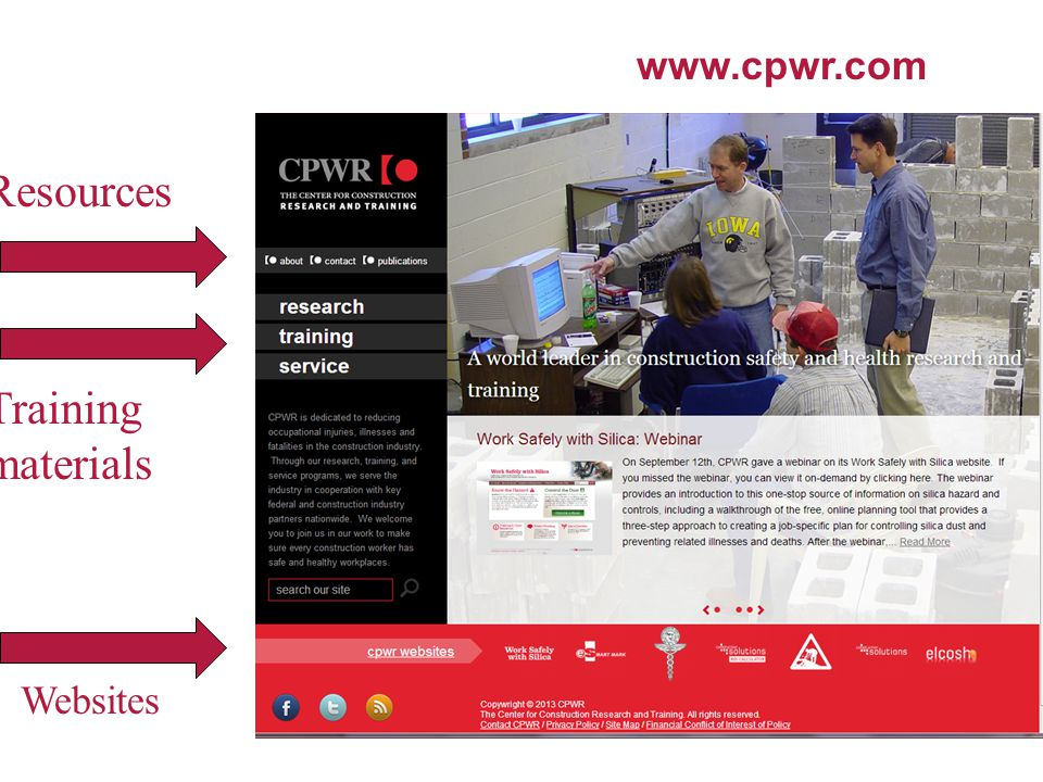 www.cpwr.com Resources Training materials Websites