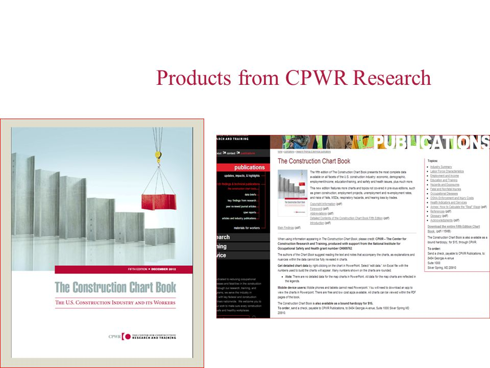 Products from CPWR Research