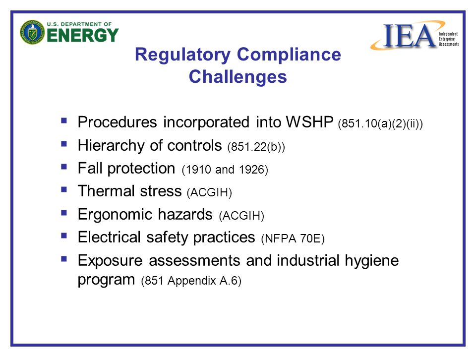 Regulatory Compliance Challenges