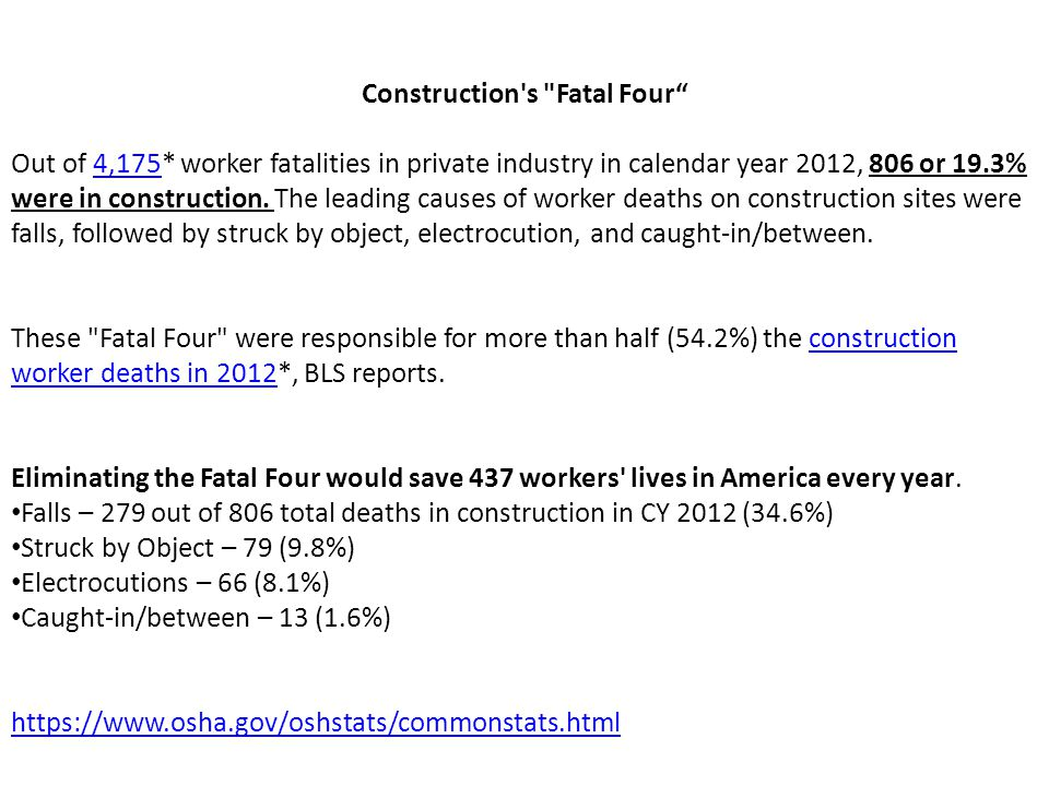Construction s Fatal Four