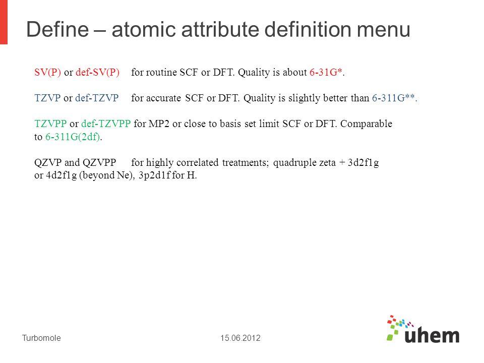 Define – atomic attribute definition menu