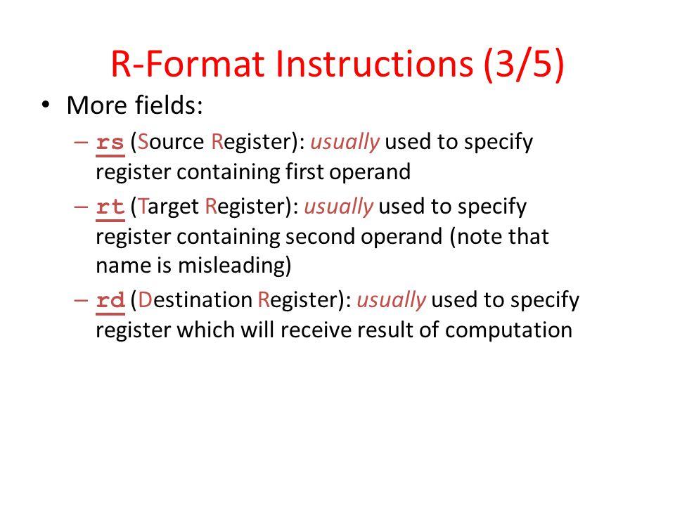R-Format Instructions (3/5)