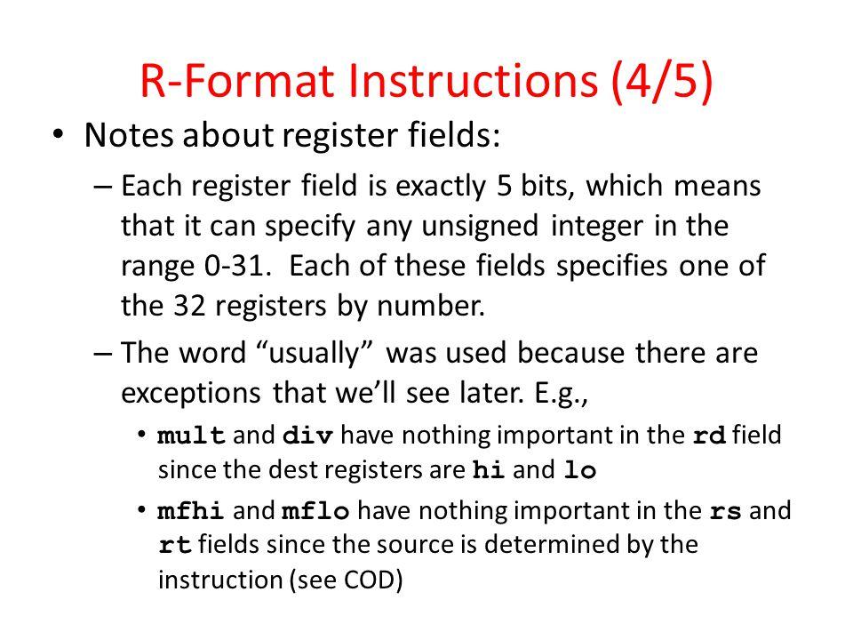 R-Format Instructions (4/5)
