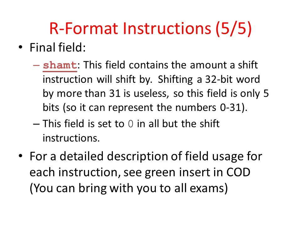 R-Format Instructions (5/5)