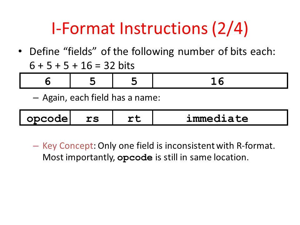 I-Format Instructions (2/4)