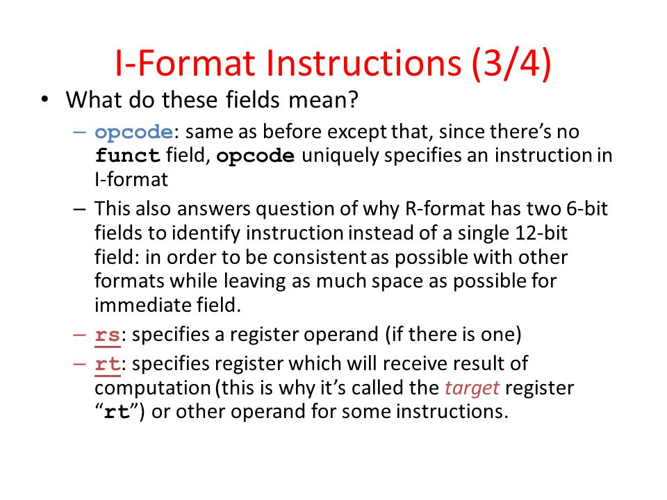 I-Format Instructions (3/4)
