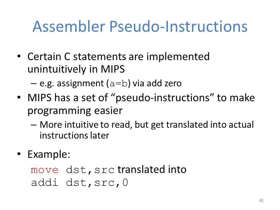 Assembler Pseudo-Instructions