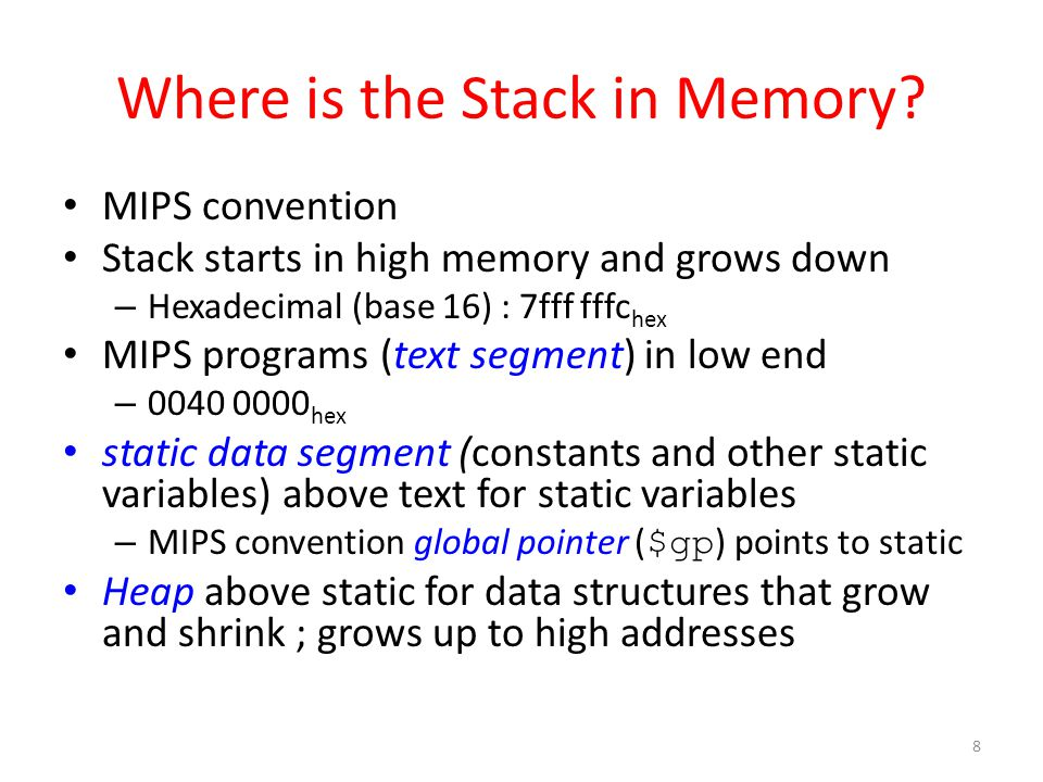 Where is the Stack in Memory