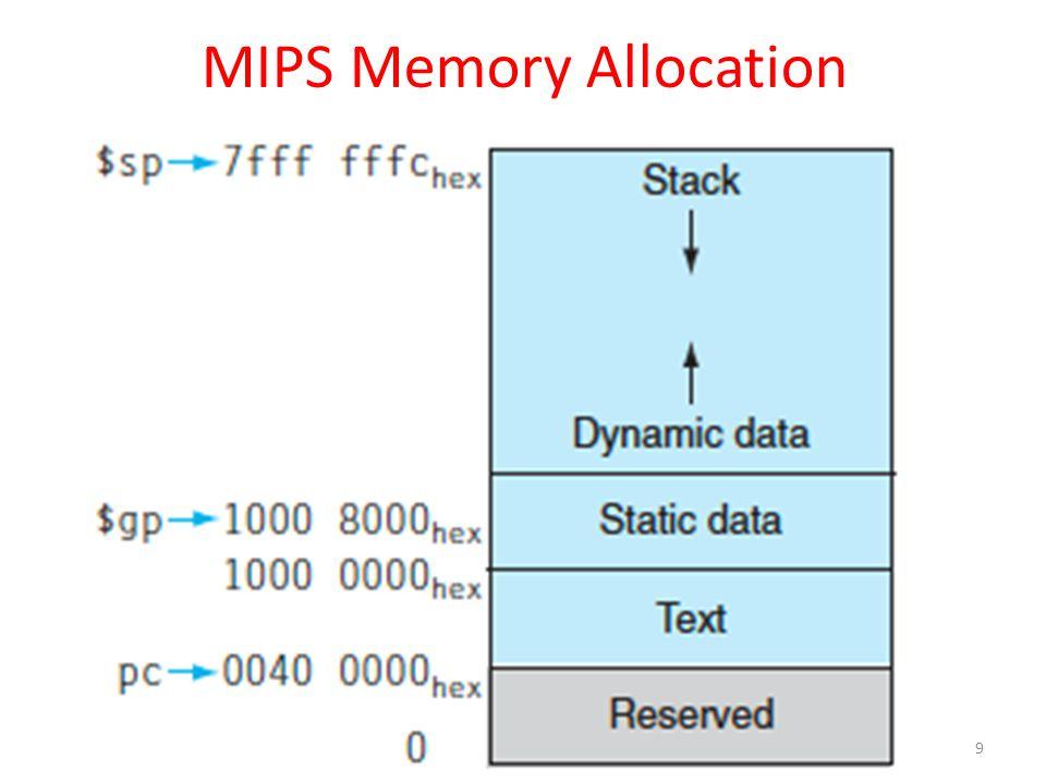 MIPS Memory Allocation