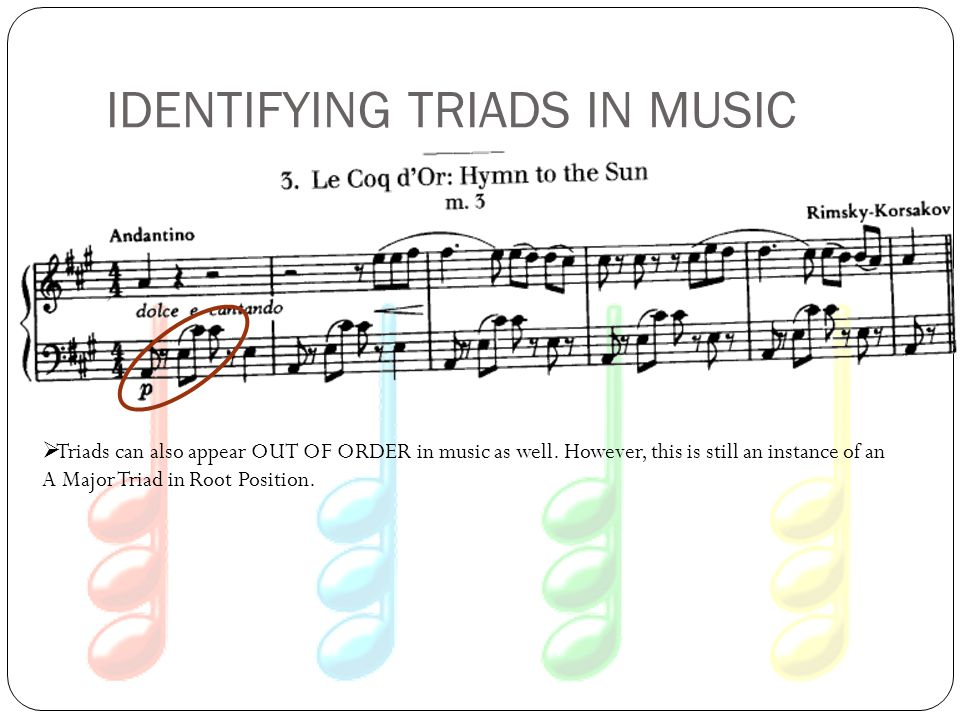 IDENTIFYING TRIADS IN MUSIC
