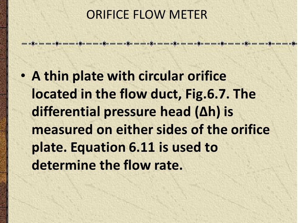 Flow measurements ppt video online download