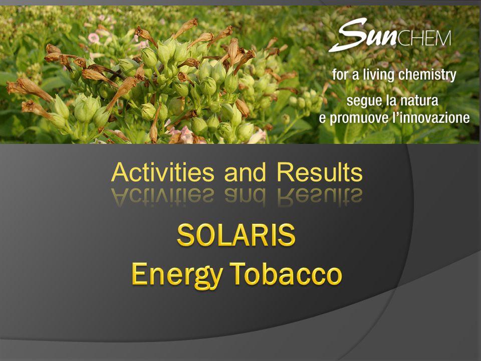 SOLARIS Energy Tobacco