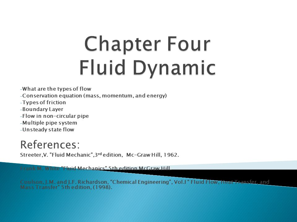 Chapter Four Fluid Dynamic