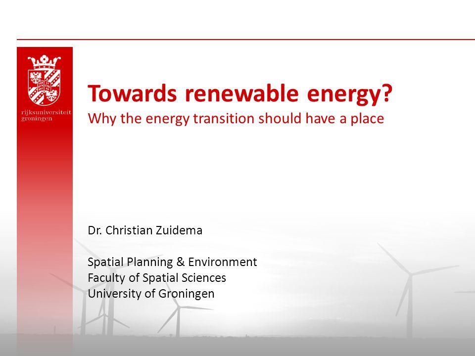 Towards renewable energy