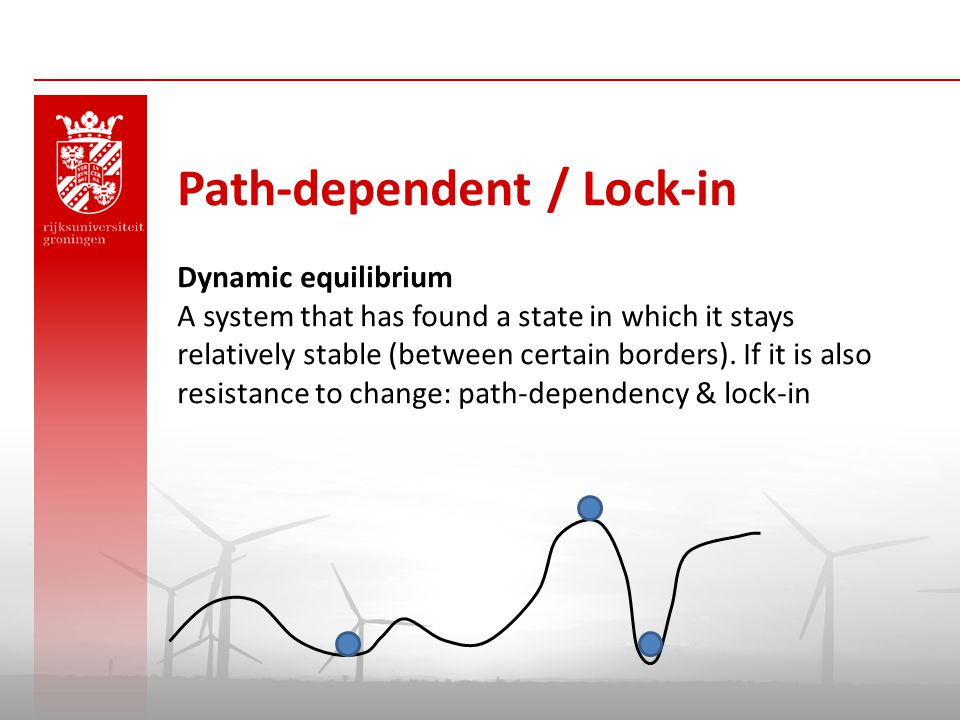 Path-dependent / Lock-in