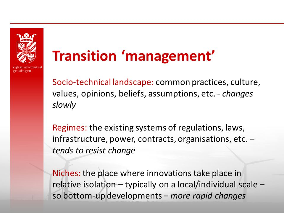 Transition 'management'