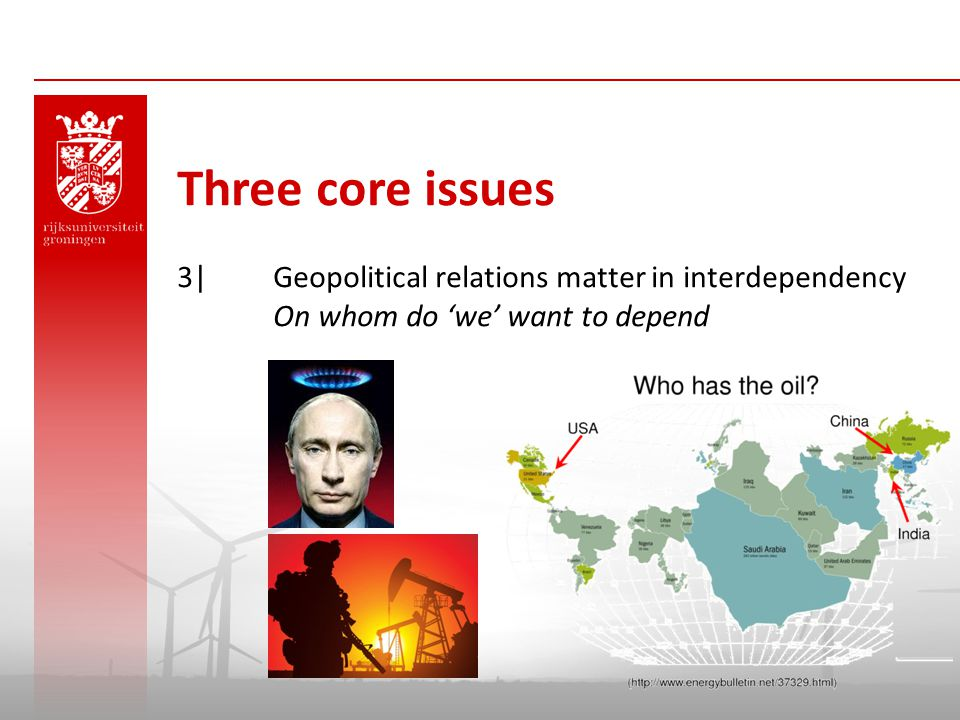 Three core issues 3| Geopolitical relations matter in interdependency