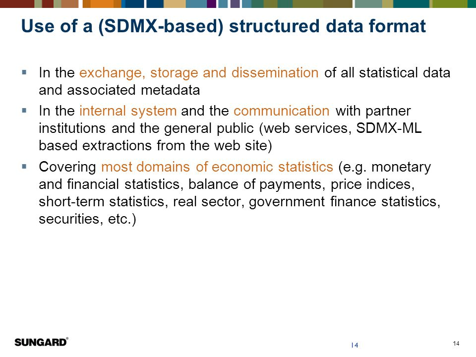 Use of a (SDMX-based) structured data format