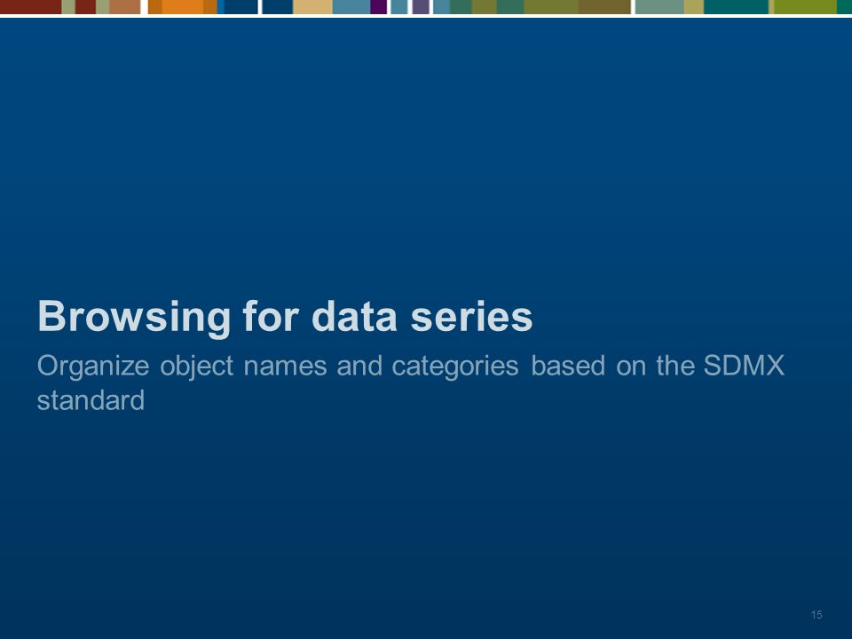 Browsing for data series