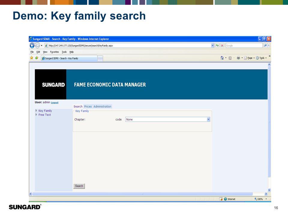 Demo: Key family search