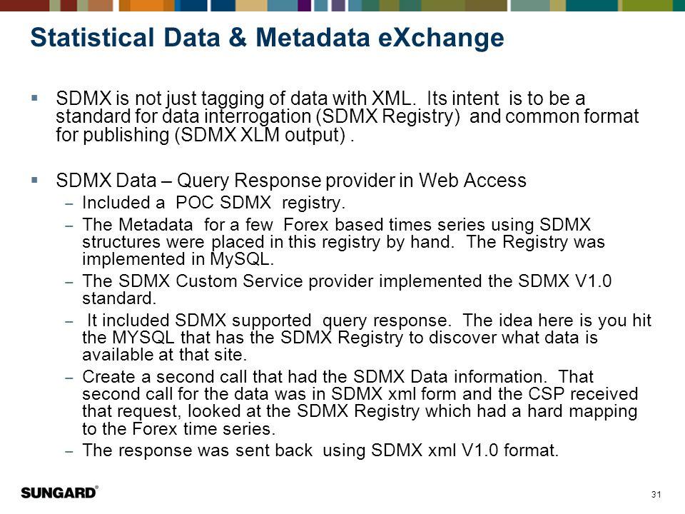 Statistical Data & Metadata eXchange