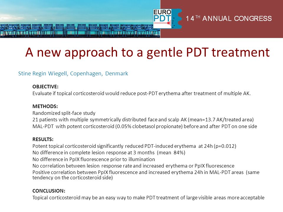 A new approach to a gentle PDT treatment