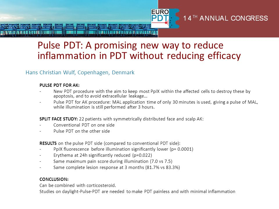 Pulse PDT: A promising new way to reduce inflammation in PDT without reducing efficacy