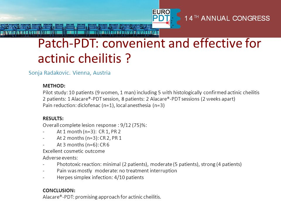 Patch-PDT: convenient and effective for actinic cheilitis