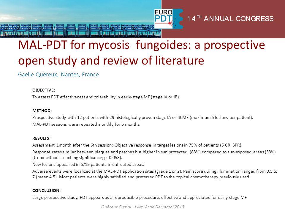 Quéreux G et al. J Am Acad Dermatol 2013