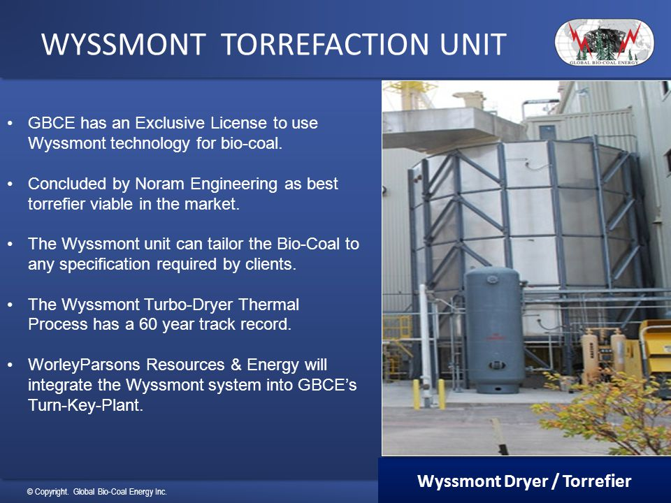 WYSSMONT TORREFACTION UNIT