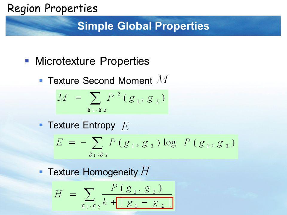 Simple Global Properties