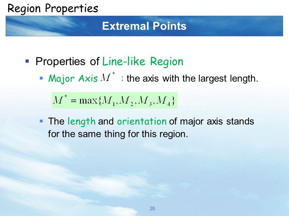 Properties of Line-like Region